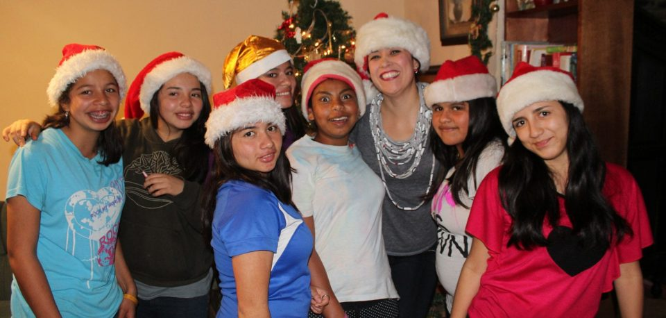 Building Community in our home iwht the girls from the orphanage Fundaninos