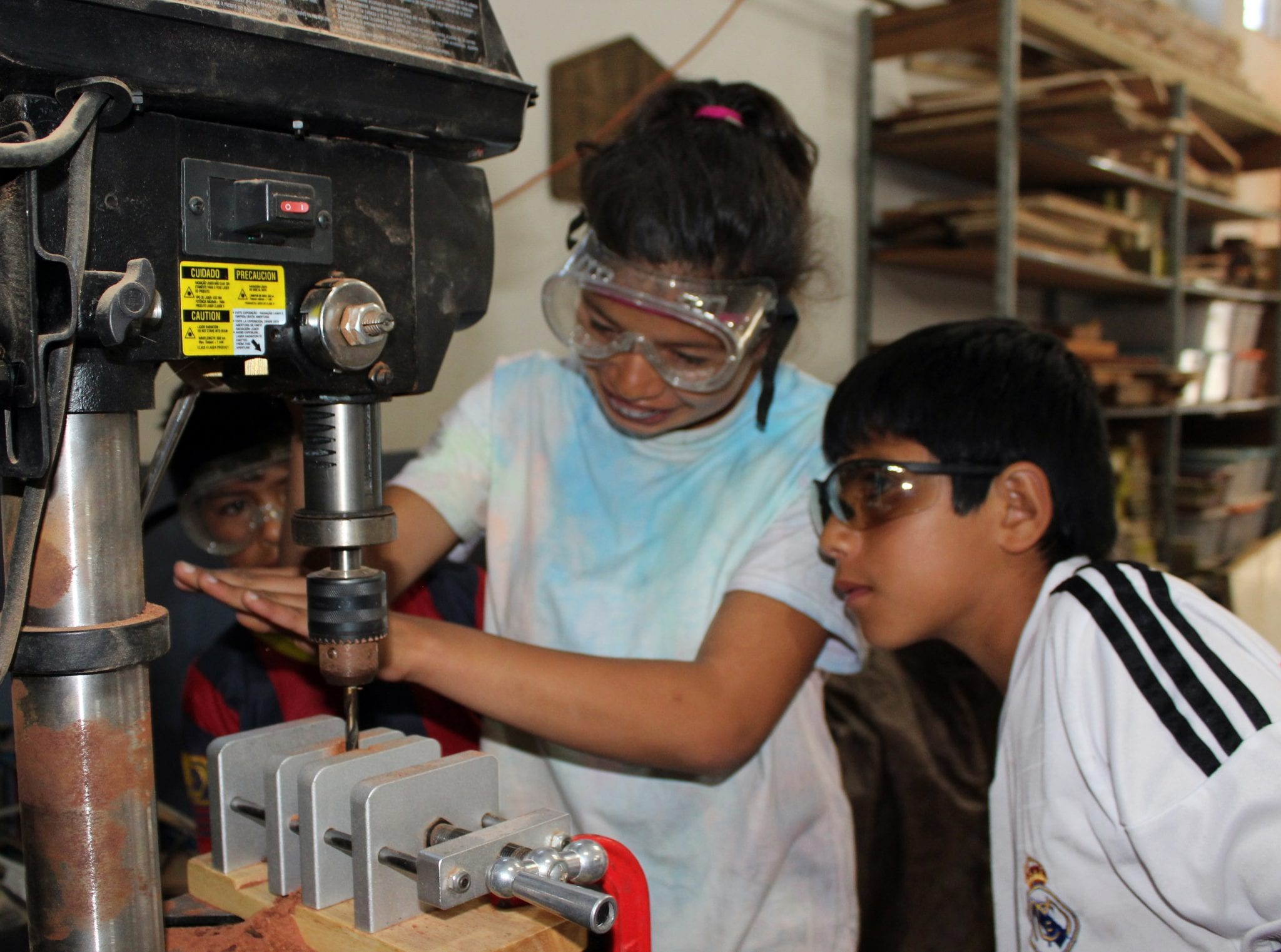 Carpentry classes for girls and boys