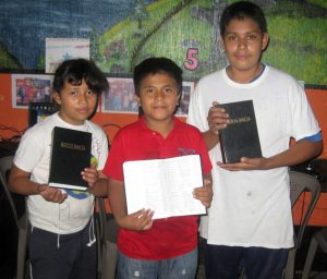 Bibles for some of our students
