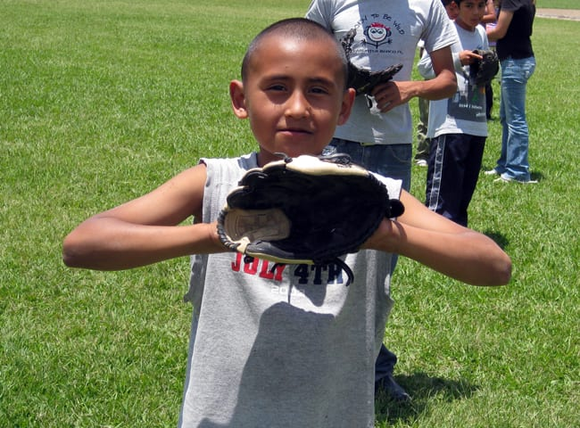 Geovanni in the first summer camp we helped with