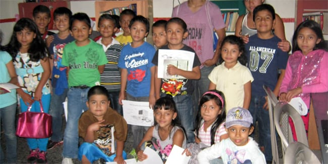 Students in our skills for life program in Colonia Santa Fe