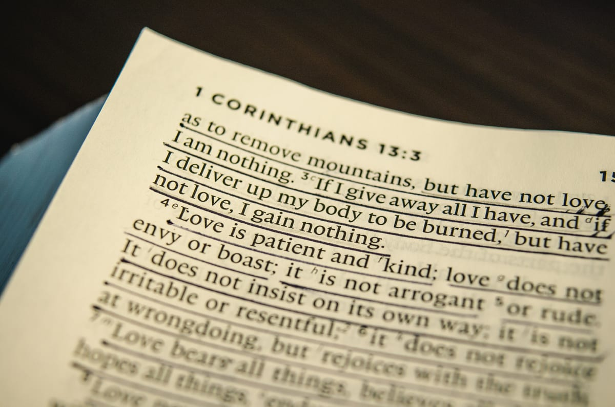 1 Corinthians 13…For Missionaries.
